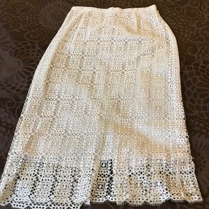 J Crew French Lace Skirt
